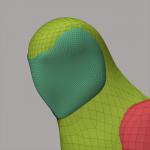 Gittermodell des Gesichts